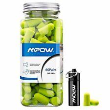 120 Mpow Soft Foam Ear Plugs 60 Pairs Earplugs 34db SNR Noise Reduction Sleeping