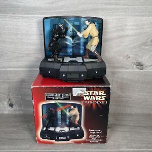 Vintage 1999 Star Wars Episode 1 Lightsabre Battle Action Sounds Alarm Clock