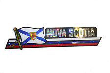 NOVA SCOTIA CANADA PROV. FLAG Metallic Bumper LONG STICKER Decal..11.75 X 3 INCH