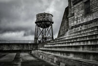 Loneliness Water Tower Alcatraz San Francisco Bay Photo Art Print Poster 18x12 i