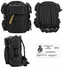 Explorer MOLLE  Backpack / Bug Out Bag (BLK) + Free Paracord Survival Bracelet