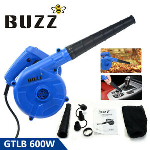600W Leaf Blower Air Electric Handheld Vacuum Cleaning Tool For Car Home Garden