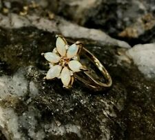 Welsh Clogau 9ct Yellow & Rose Gold Snowdon Lily Opal Ring £300 OFF! SIZE P