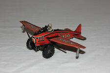 Rare German Tin Litho Wind Up Folding Wing Sparking Fighter Airplane K345 L@@K