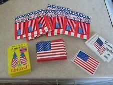 huge lot 28 Usa Flag Magnet Fridge Locker 10 pairs patches Patriotic 4th July