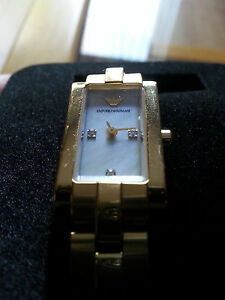 Emporio Armani Gold Plated ladies Watch AR-3110 Boxed
