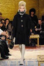 Chanel Black Wool Coat Pre-Fall 2011 Size 34FR