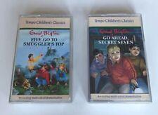 Enid Blyton Cassette Audio Books Go Ahead Secret Seven Five Go To Smuggler's Top