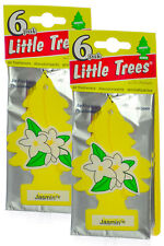 Little Trees Cardboard Hanging Car Home & Office Air Freshener, Jasmin (12-Pack)