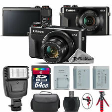 Canon PowerShot G7 X Digital 20.1MP WiFi NFC Camera + EXT BAT + Flash - 64GB Kit