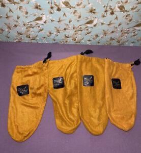 *Vintage* The Royal Imperial  Florsheim Drawstring Shoe Dust Bag Set Of 4