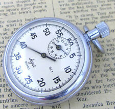 AGAT 30 MIN USSR Vintage 1980s Old Soviet Military Wind-Up Mechanical Stop Watch