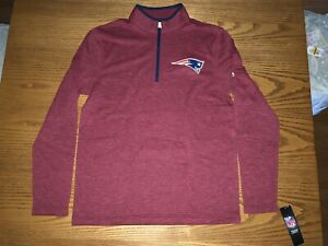 NEW ENGLAND PATRIOTS NFL MENS THERMABASE PERFORMANCE 1/2 ZIP PULLOVER MEDIUM