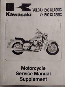 Kawasaki Vulcan 1500 Classic VN1500 USED Service Manual SUPPLEMENT 99924-1191-51