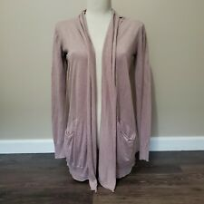 Wilfred SM Lilac Open Front Long Cardigan Sweater Silk Cashmere Linen *READ*