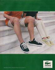 Publicité 1998  LACOSTE chaussure vetement collection mode