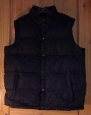 Lands' End Black Puffy Down Vest, Men's L 42-44