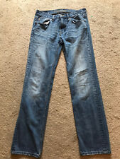 GUC Men's Distressed AMERICAN EAGLE Jeans Size 30 X 34 ORIGINAL STRAIGHT