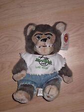 Herrington Teddy Bears Hard Rock Cafe Las Vegas Plush Wolf/Bear/Free Shipping!