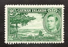 Sc 109 -  Cayman Islands - 2/-  - George VI - 1938 - MLH - superfleas  cv$22.5