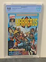 WARHEADS #1 9.8 HIGHEST Graded FIRST Appearance Marvel UK Comics 1992 CGC<CBCS