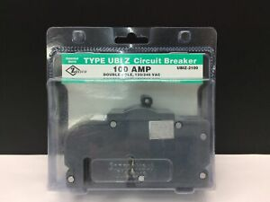 CONNECTICUT ELECTRIC UBIZ-2100 UBIZ2100 100 AMP 2 POLE CIRCUIT BREAKER NEW