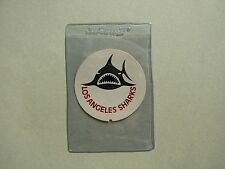 MID 1970'S UNUSED WHA HOCKEY PIGGY BANK STICKER LOS ANGELES SHARKS TEAM LOGO