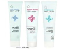 Superdrug Foot Care Vit-E Aloe Vera Sooth Lotion/Exfoliate Scrub/Intensive Cream