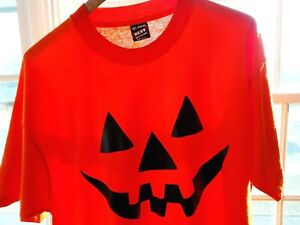 2XL Vtg 90s Halloween Jack-O-Lantern Skate Grunge Single Stitch 50/50 T-Shirt