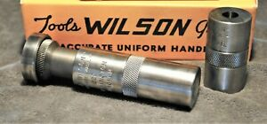 L.E. WILSON ~ 222 REM. MAG ~ CASE LENGTH GAGE & CHAMBER TYPE BULLET SEATER ~