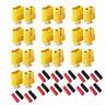 20 Stück (10 Paar) XT60 Goldstecker Lipo Akku Stecker Buchse + Schrumpfschlauch