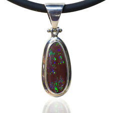 Matrix Opal Pendant with Green Colour in 100% Sterling Silver