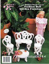 """GARDEN FURNITURE""~Plastic Canvas PATTERN~PATTERN ONLY fits BARBIE FASHION DOLL"
