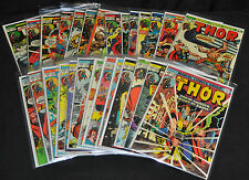 The Mighty Thor Lot #'s 195 & 216-241 (27 Comics!) - (Grades 4.0 - 8.0) WH