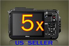 5x Nikon Coolpix AW120 Camera Clear LCD Screen Protector Guard Shield Film