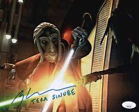 GREG BALDWIN Star Wars Clone Wars Signed 8x10 Tera Sinube Photo JSA COA Cert