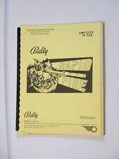 1982 Bally Rapid Fire Pinball Manual