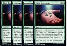 4x Giant Opportunity  -NM- Throne of Eldraine Green Uncommon