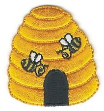 "1 1/2"" x 1 5/8"" Yellow Bee Hive Embroidery Patch"