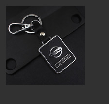 for Nissan fashion black Leather Metal Car Keychain keyRing keyholder