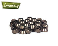 Gusset Alloy  Axle Nuts 3 with Washers 3//8-15 mm in Anodized Blue Wheel Nuts