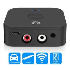 Wireless Bluetooth 5.0 Receiver 2RCA Audio NFC Desktop 3.5mm Jack Aux Adapter UK