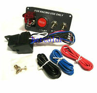 Carbon Race Car Ignition Accessory Engine Start Push Button Switch Panel 12V 20A