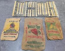 Vtg. Potato Sacks & Persian Small Area Rug Lot 3283