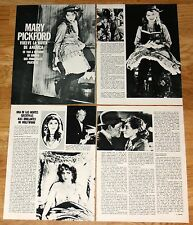 MARY PICKFORD 6 page 1974 spain article clippings canadian actress cinema