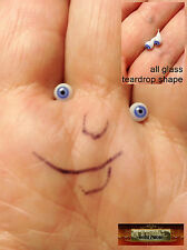 M00324 MOREZMORE Glass Eyes 4mm 1:6 1/6 Scale BLUE 4 mm Miniature. Doll T20