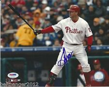 JIM THOME (Phillies) signed 8x10 PHOTO with PSA/DNA COA