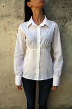 Denny Rose fringed Casual Shirt White Italy Long Sleeved L Large