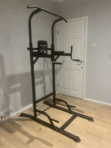 Pull Up Power Tower Station Abs Exercise Crunch Chin Ups Tower Workout Set UK