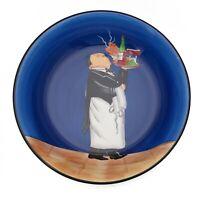 Tracy Flickinger Blue Ceramic Serving Bowl Pasta Waiter Dansk